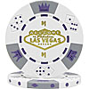 $1 White Las Vegas Tri-Color 11.5g Poker Chip
