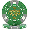 $25 Green Las Vegas Tri-Color 11.5g Poker Chip