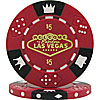 $5 Red Las Vegas Tri-Color 11.5g Poker Chip