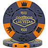 $500 Blue Las Vegas Tri-Color 11.5g Poker Chip