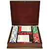 100 11.5g Jackpot Casino Clay Chip w/ Mahogany Case