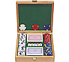 100 13 gm Pro Clay Casino Chips w/Beautiful Solid Oak Case