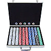1000 11.5G Jackpot Casino Clay Poker Chips w/Aluminum Case