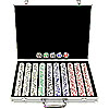 1000 pc. 4 Aces Poker Chip Set with Aluminum Case - 11.5g