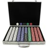 1000 pc Big Slick Texas Hold'em Poker Chip Set w/ Alum. Case
