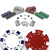 1000 Striped Dice 11.5 Gram Poker Chips Texas Hold em Set