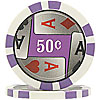 11.5g 4 Aces Poker Chip 50 cents