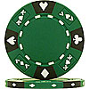 14 Gram Green Tri-Color Ace King Suited Chip
