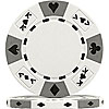 14 Gram White Tri-Color Ace King Suited Chip
