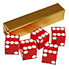 19mm A Grade Serialized Set of Casino Dice-Red