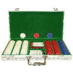 300 7.2g Suited Poker Chips w/ Aluminium Case