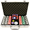 300 15g Clay Welcome to Las Vegas Chip Set w/ Aluminum Case