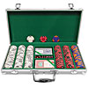 300 Chip Tri-Color Triple Crown Set w/Aluminum Case