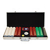 500 Super Diamond Poker Chip Set with Aluminum Case