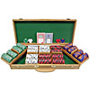 500 Chip Tri-Color Triple Crown Set w/Genuine Oak Case