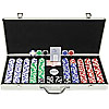 650 11.5G Holdem Poker Chip Set w/Executive Aluminum Case
