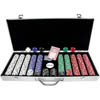 650 Chip Texas Hold'Em set w/ Aluminum Case