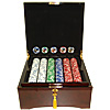 750 Jackpot Casino Clay Chips w/ Mahogany Case