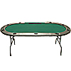 96 Inch Hold'em Table with Dealer Position