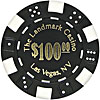 11.5 Gram BLACK Landmark Casino Poker Chips