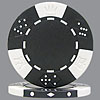 11.5g BLACK Lucky Crown Poker Chips