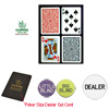 Copag™ Poker Size PLASTIC Playing Cards & Dealer Kit B*R Setup