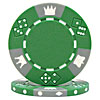 11.5 Gram GREEN Tri-Color Triple Crown Poker Chip