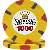 National Poker Series Paulson Chip $1000 Yellow