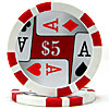 11.5g 4 Aces Poker Chip $5