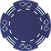 11.5g Royal Suited BLUE Casino Chip