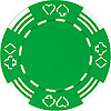 11.5g Royal Suited GREEN Casino Chip