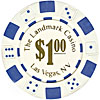 11.5 Gram WHITE Landmark Casino Poker Chips